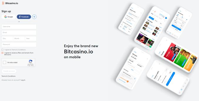 Bitcasino signup
